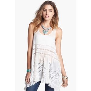 Free People swingy lace insert tunic